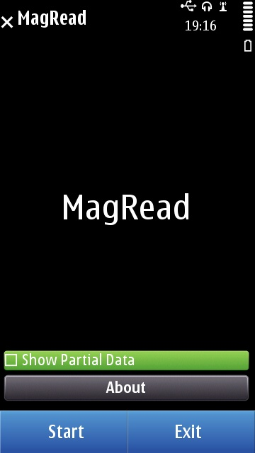 The home screen for MagRead on Symbian^3
